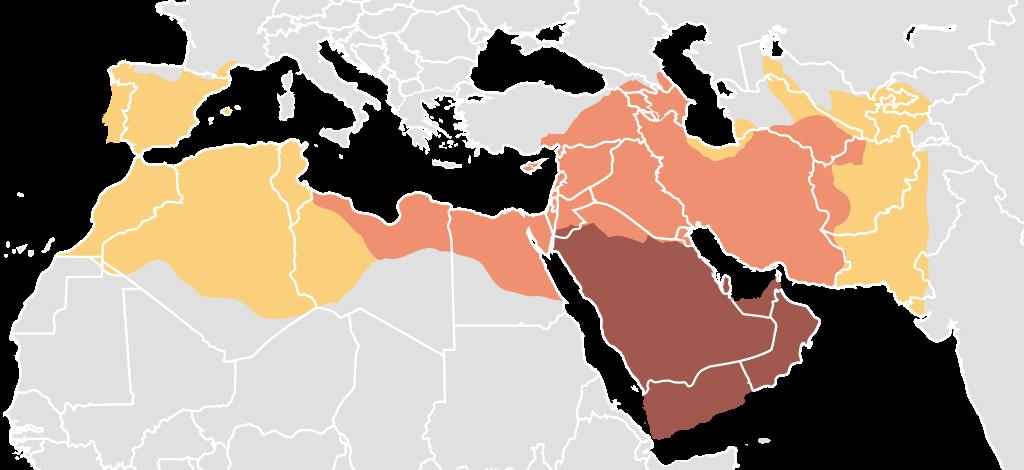 ウマイヤ朝の最大領土