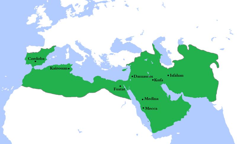 イランの歴史_ウマイヤ朝の領土